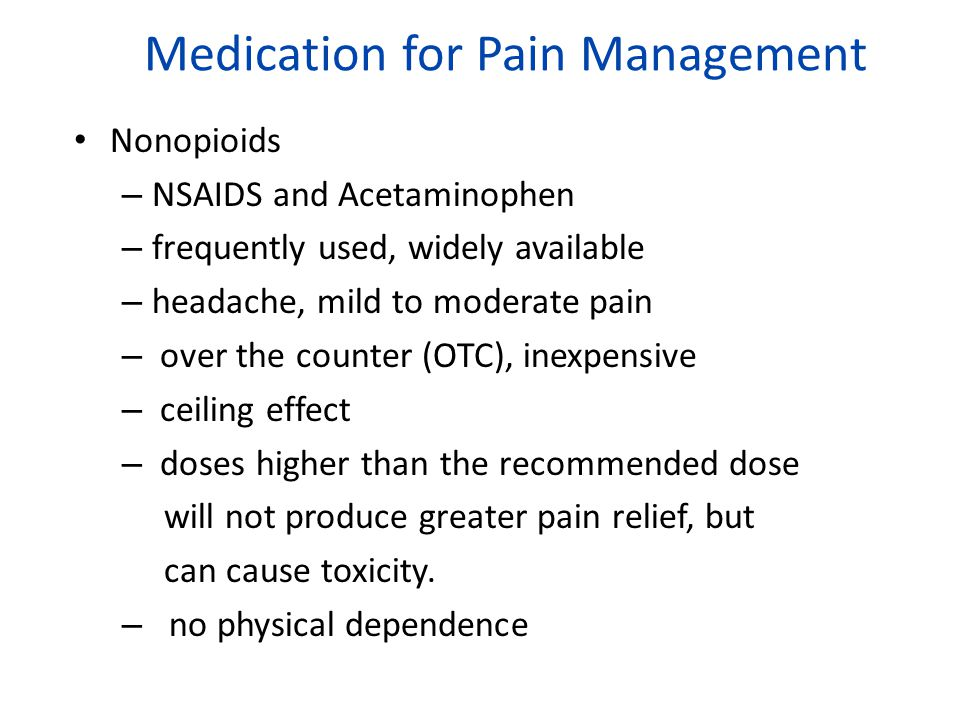 Medication for Pain Management