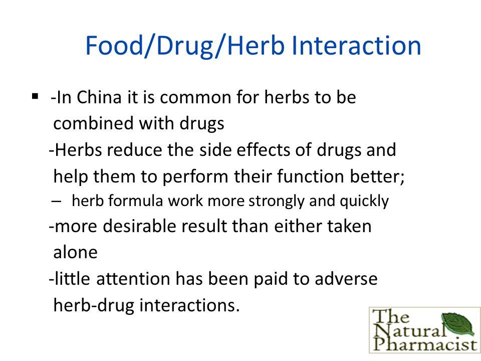 Food/Drug/Herb Interaction