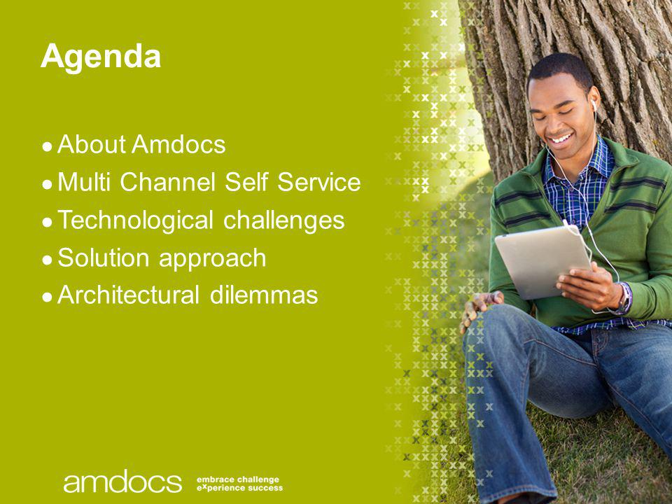 Agenda About Amdocs Multi Channel Self Service