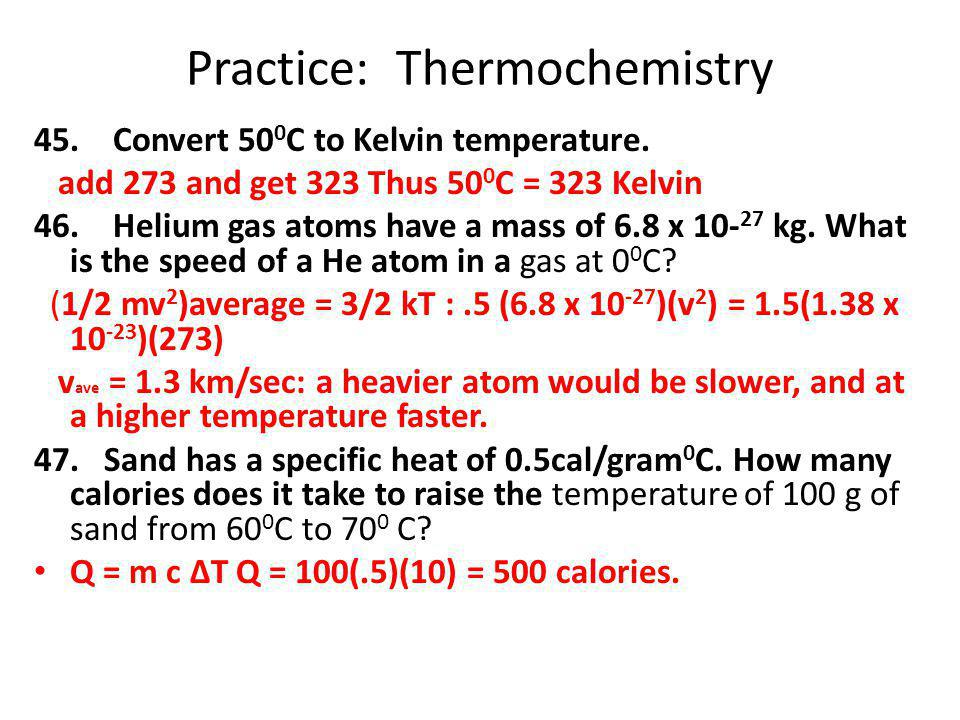 Practice: Thermochemistry