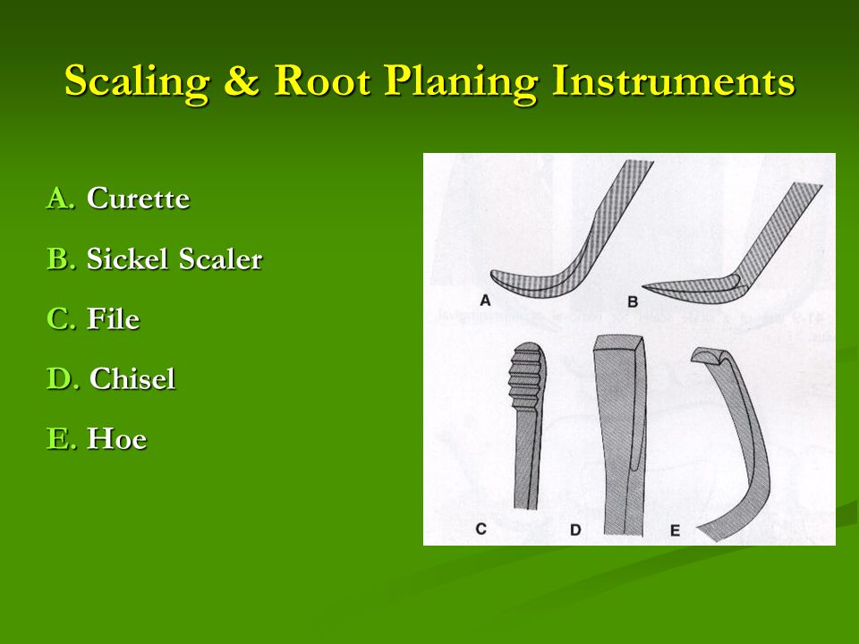 Scaling & Root Planing Instruments