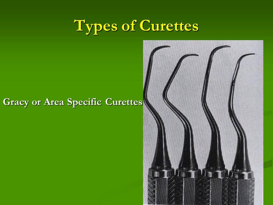 Types of Curettes Gracy or Area Specific Curettes