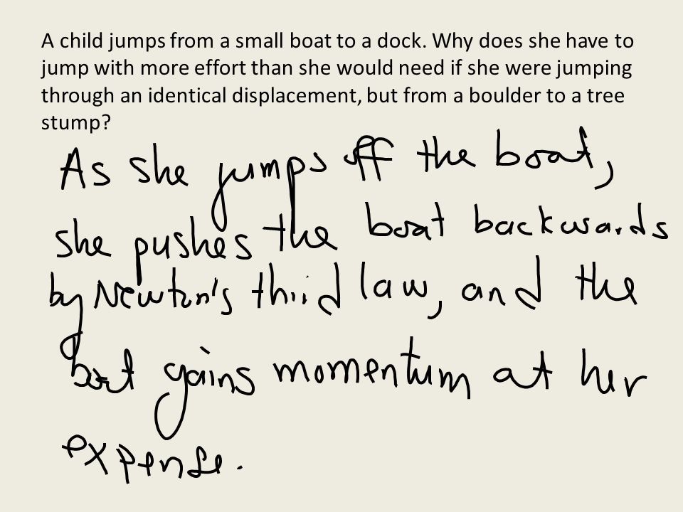 A child jumps from a small boat to a dock