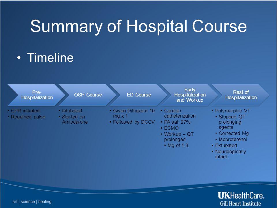 Summary of Hospital Course