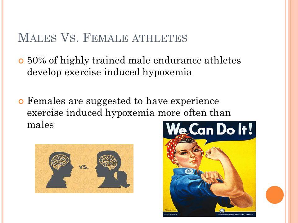 Males Vs. Female athletes