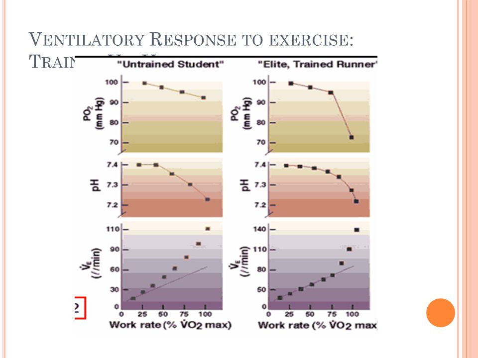 Ventilatory Response to exercise: Trained Vs. Untrained