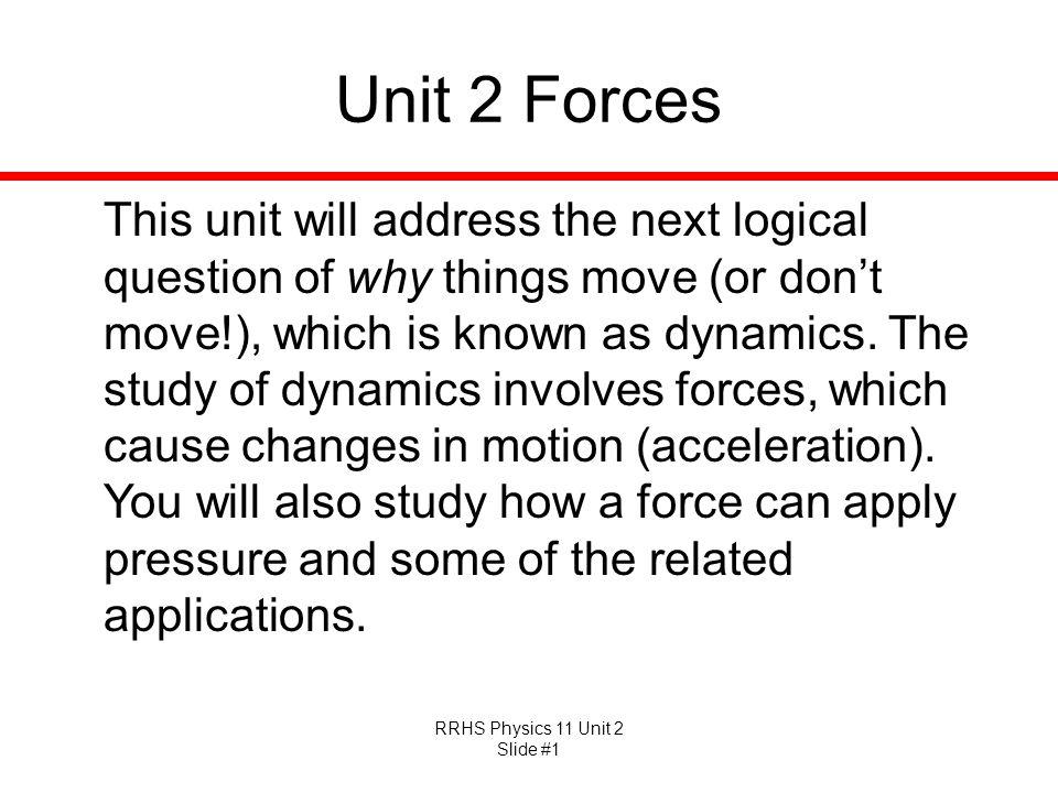 Unit 2 Forces