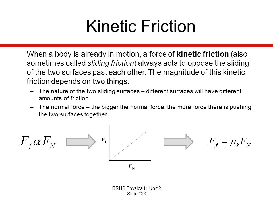 how to find force of kinetic friction
