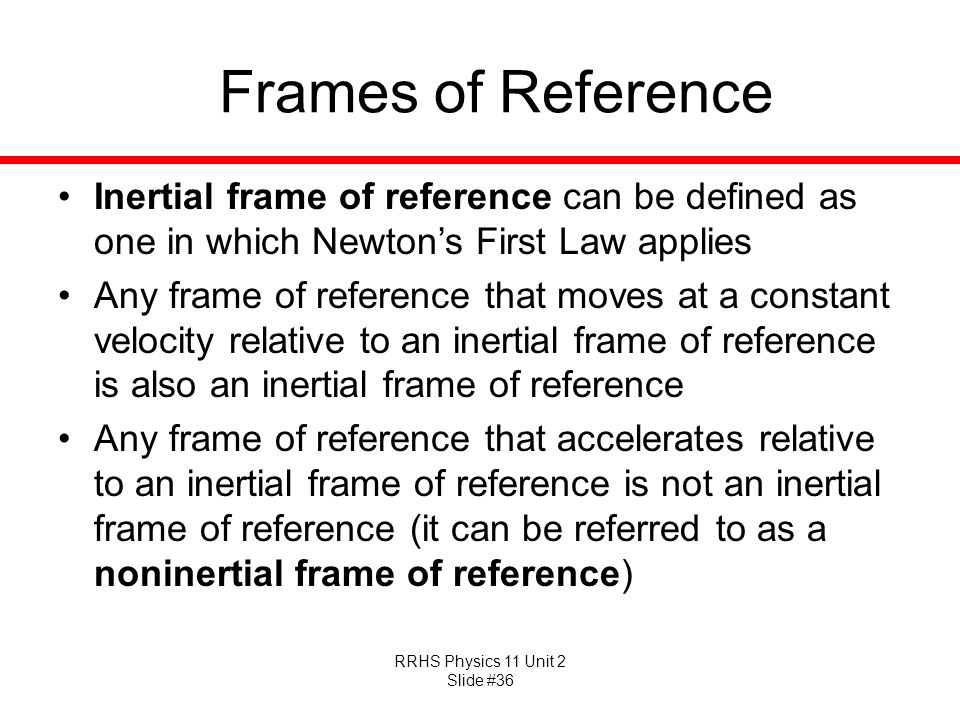 Inertial Frame Of Reference Synonym | Amtframe org