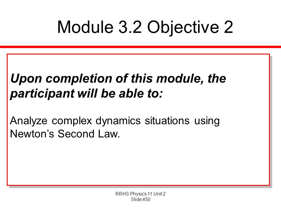 Module 3.2 Objective 2 Upon completion of this module, the participant will be able to: