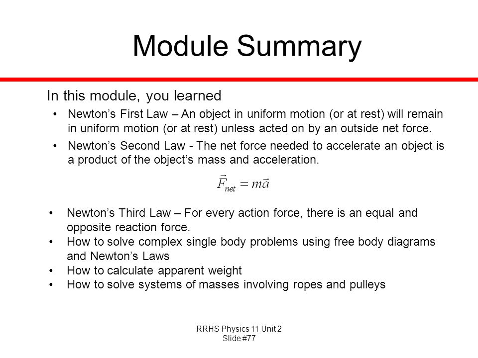 Module Summary In this module, you learned