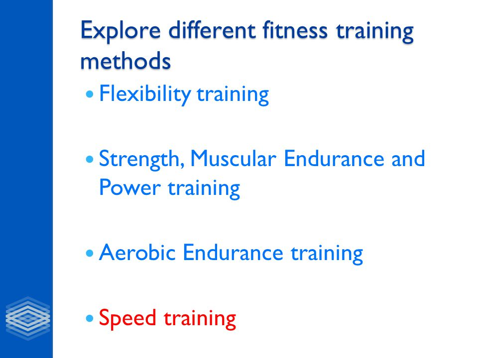Explore different fitness training methods