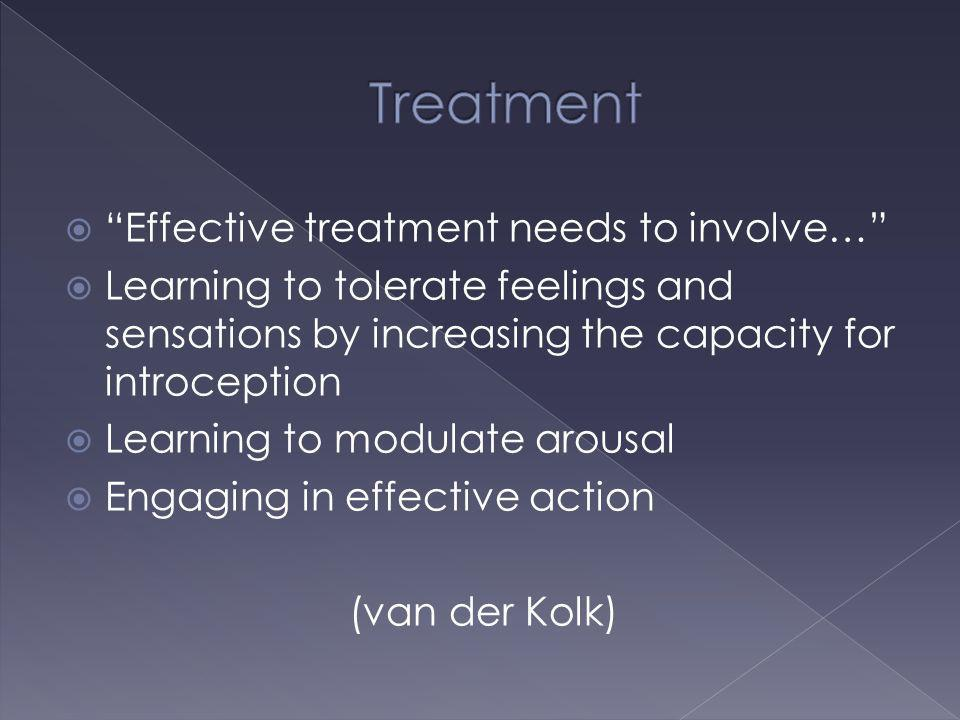 Treatment Effective treatment needs to involve…