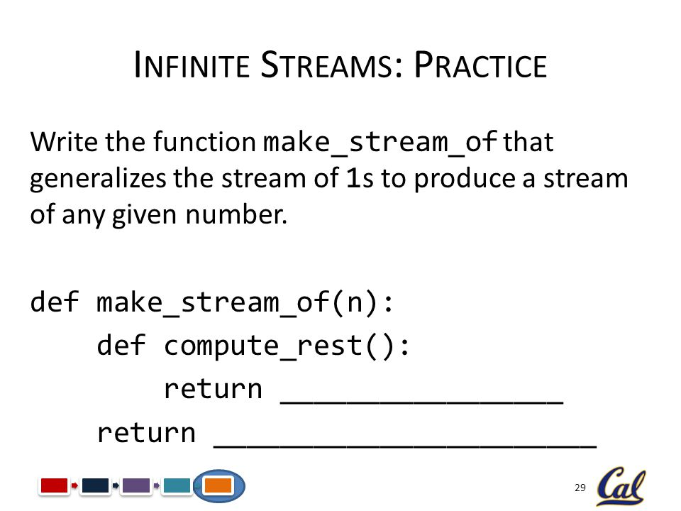 Infinite Streams: Practice