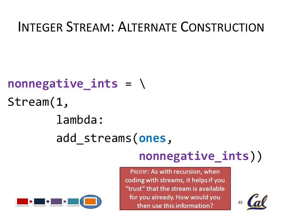 Integer Stream: Alternate Construction