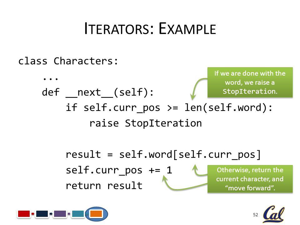 Iterators: Example