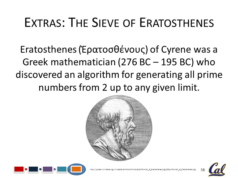 Extras: The Sieve of Eratosthenes