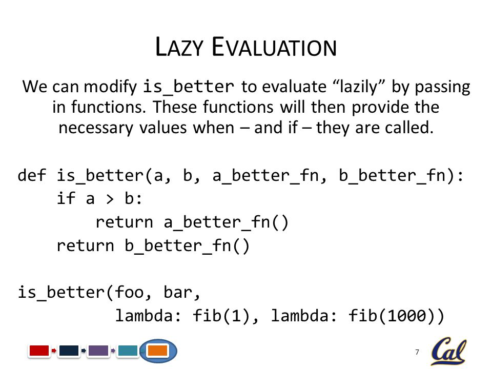 Lazy Evaluation