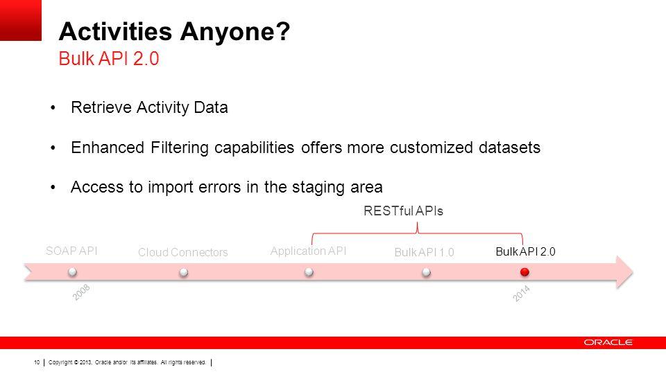 Activities Anyone Bulk API 2.0 Retrieve Activity Data