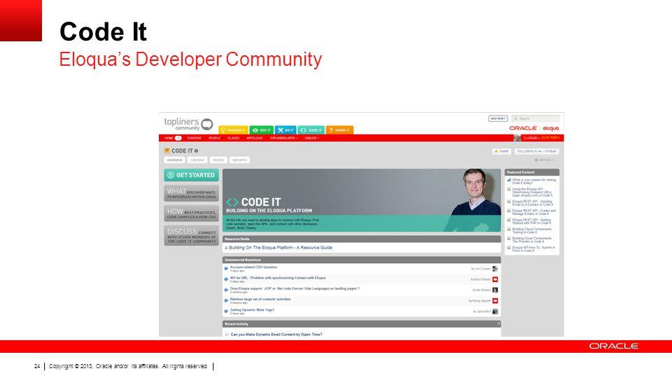 Code It Eloqua's Developer Community