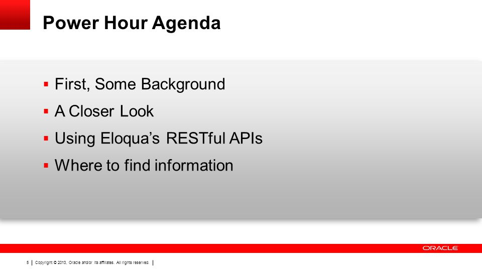 Power Hour Agenda First, Some Background A Closer Look