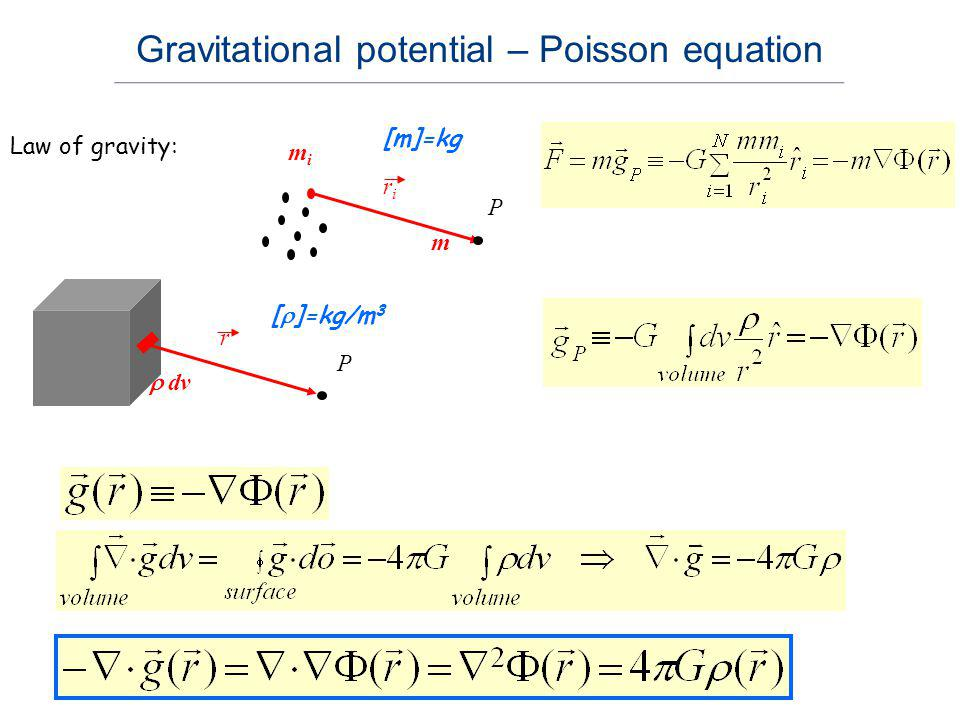 Gravitational potential – Poisson equation