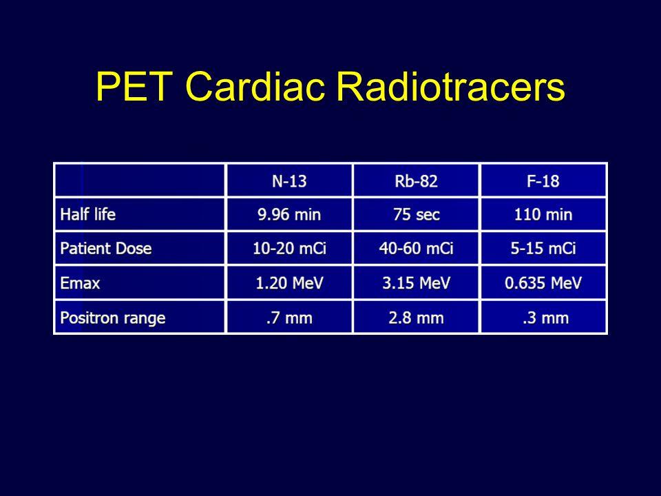 PET Cardiac Radiotracers