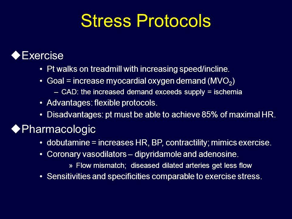 Stress Protocols Exercise Pharmacologic