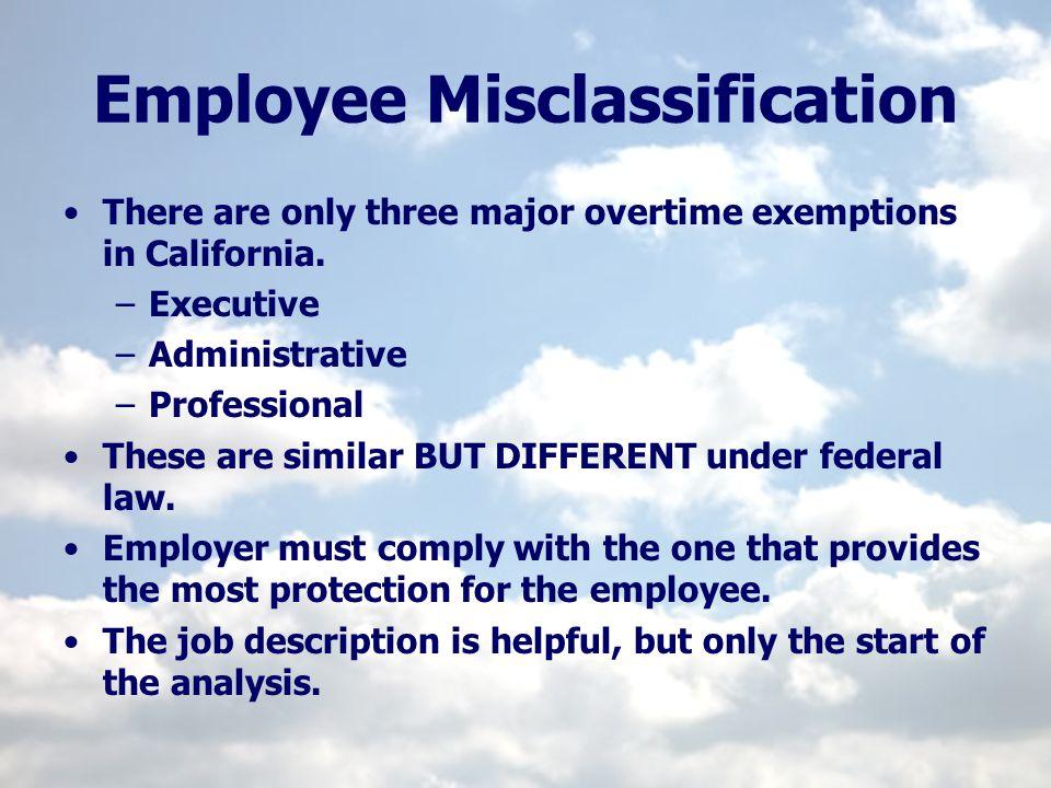 Employee Misclassification