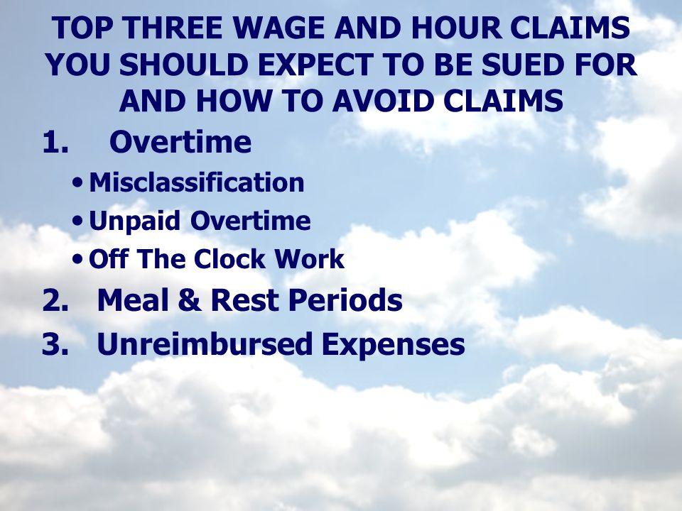 3. Unreimbursed Expenses
