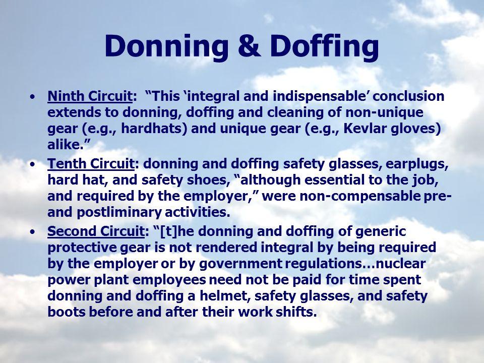 Donning & Doffing