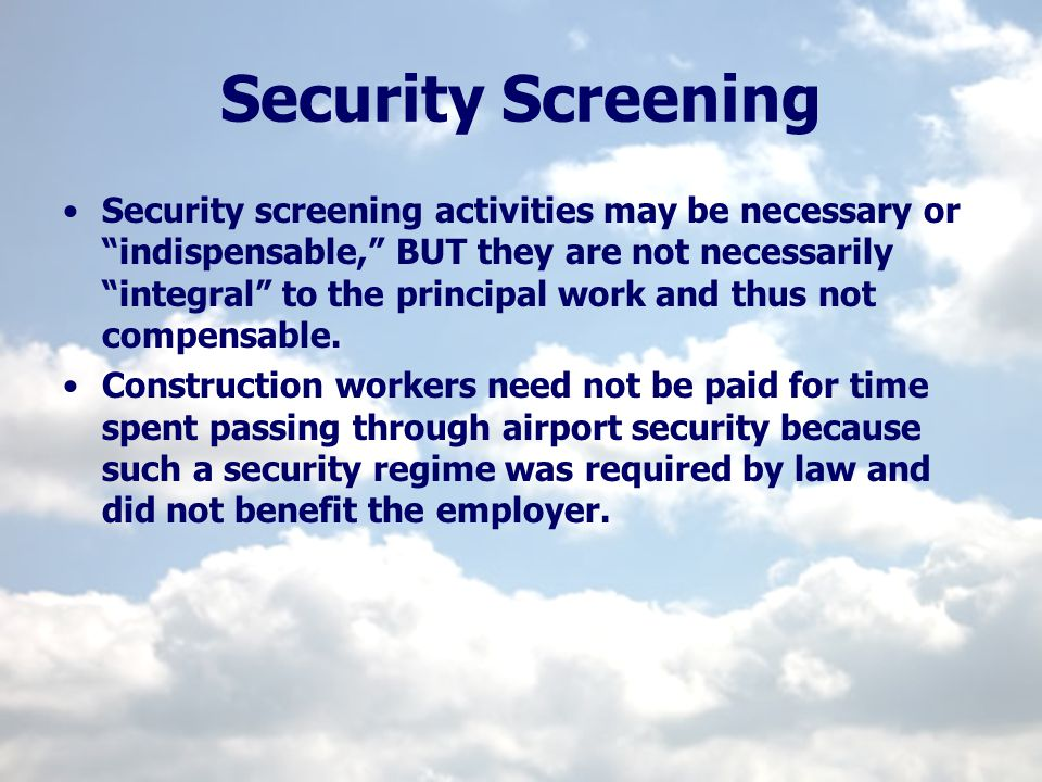 Security Screening