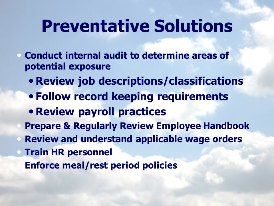 Preventative Solutions