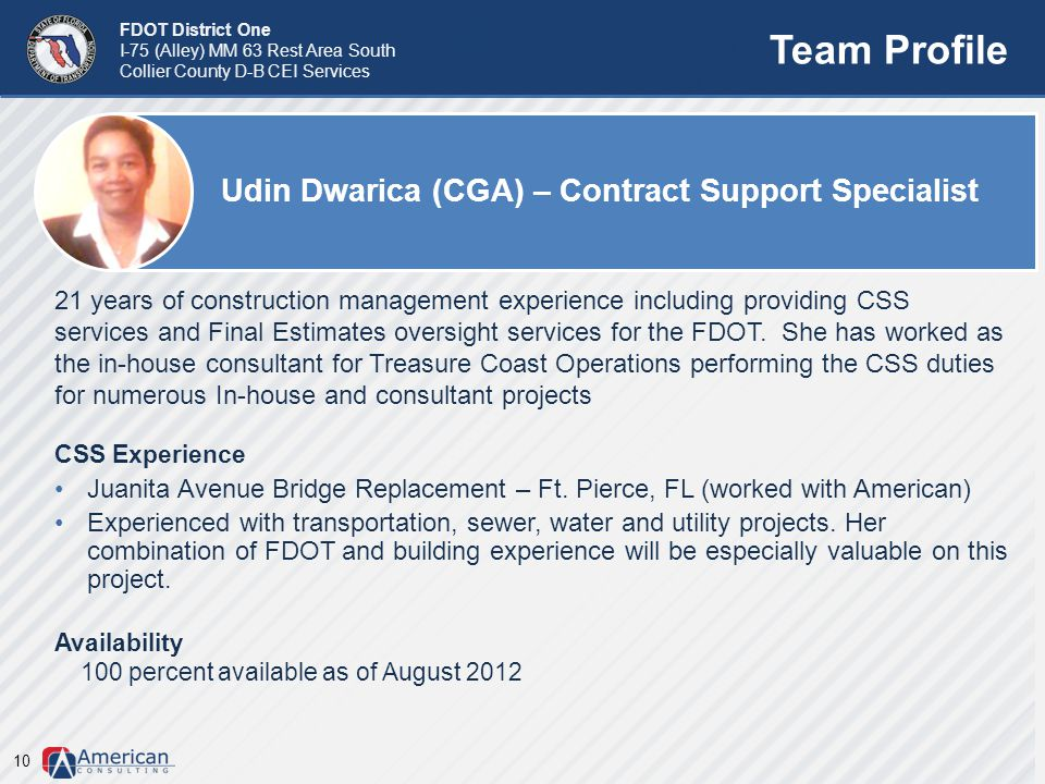 Team Profile Udin Dwarica (CGA) – Contract Support Specialist