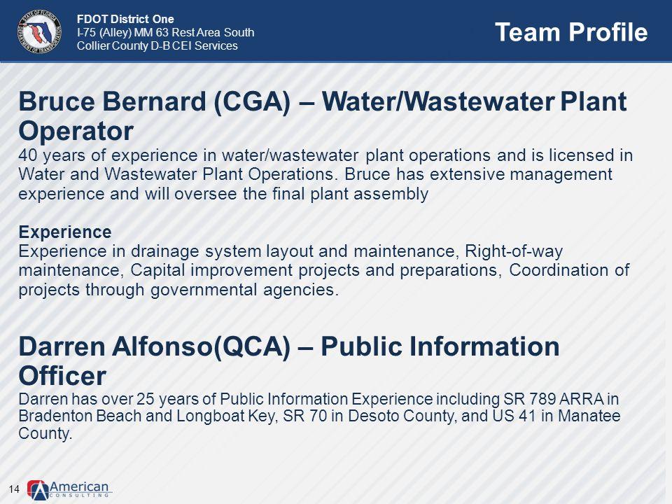 Bruce Bernard (CGA) – Water/Wastewater Plant Operator