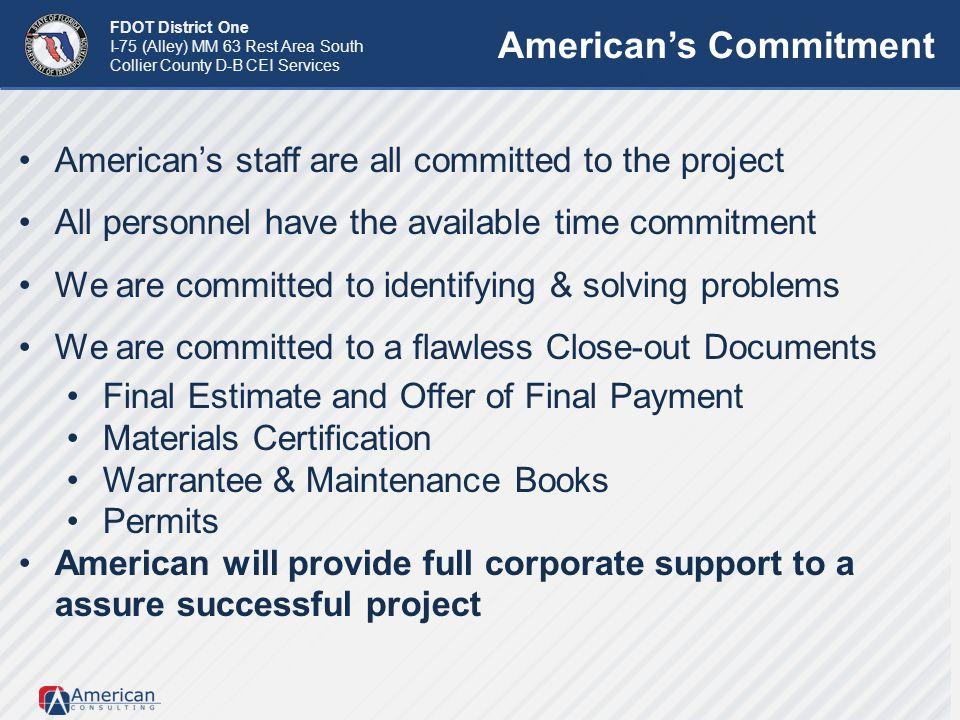 American's Commitment