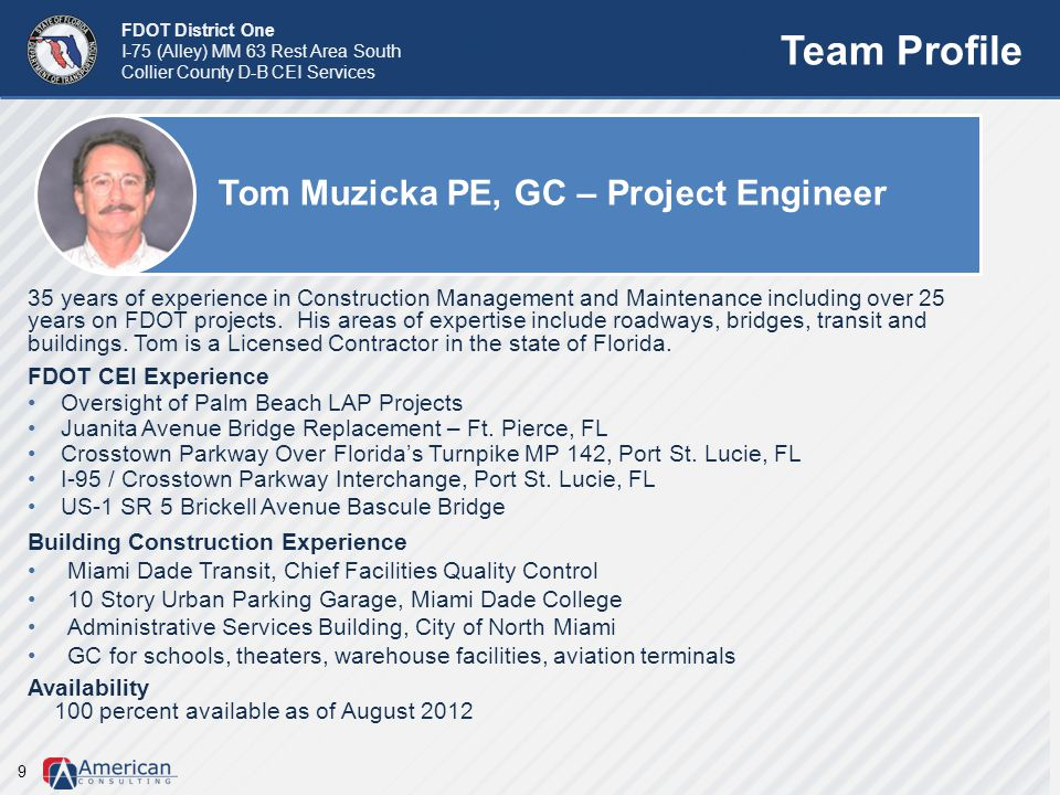 Tom Muzicka PE, GC – Project Engineer