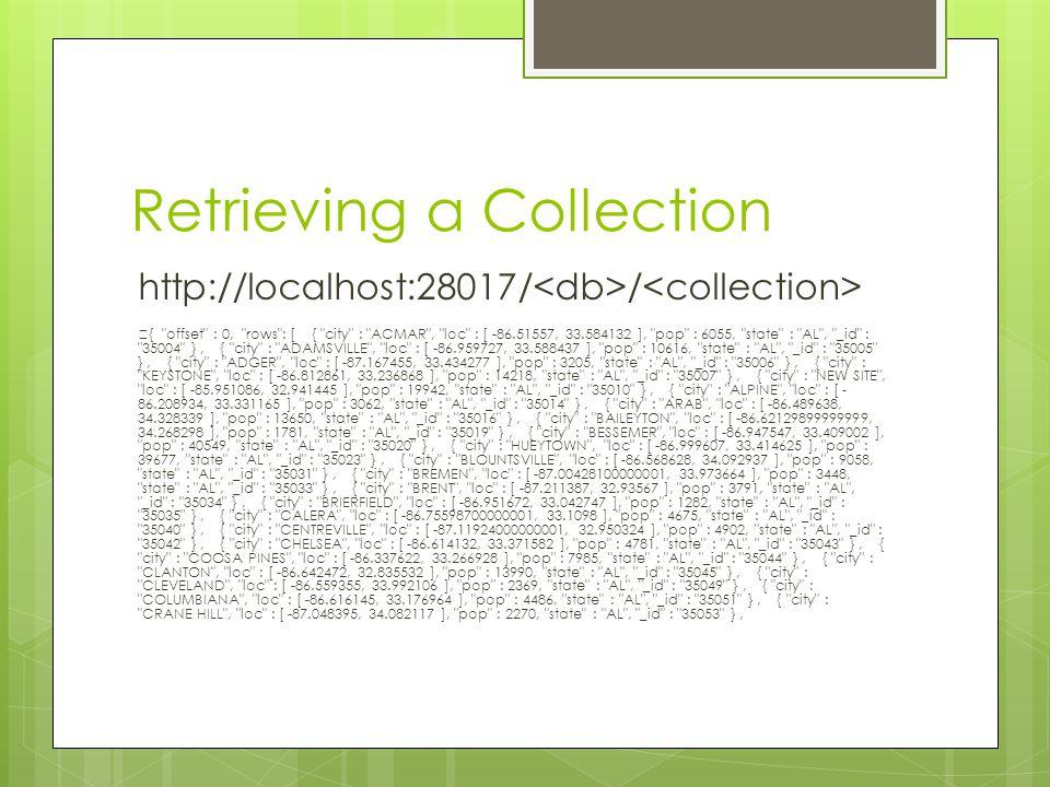 Retrieving a Collection