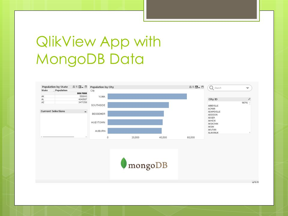 QlikView App with MongoDB Data