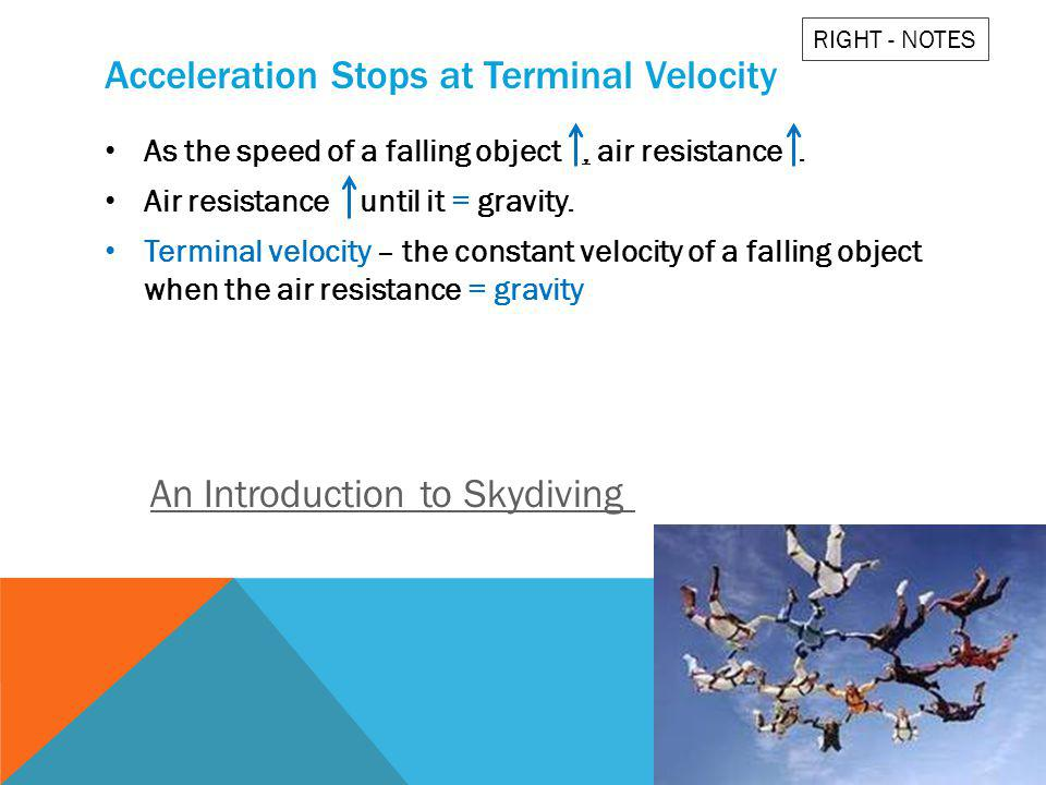 Acceleration Stops at Terminal Velocity