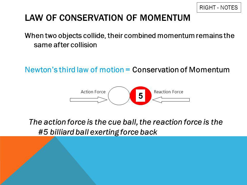 law of conservation of momentum