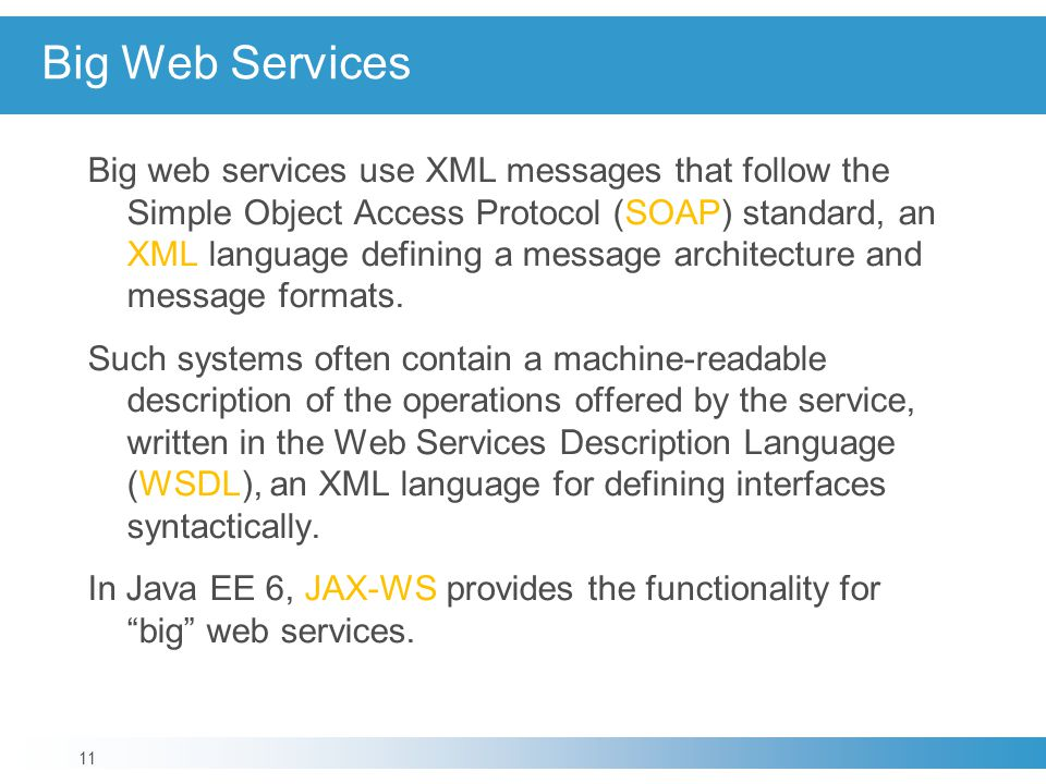 Big Web Services