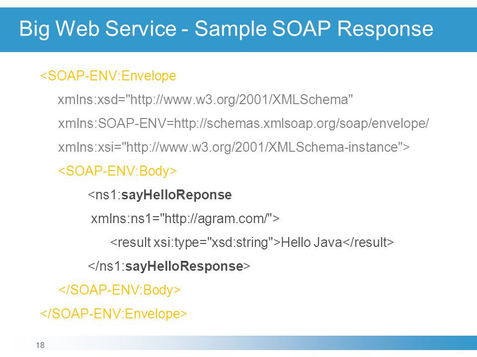 Big Web Service - Sample SOAP Response
