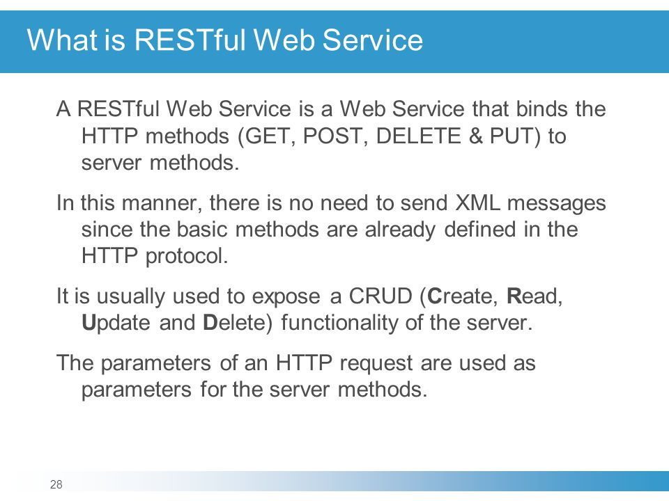 What is RESTful Web Service