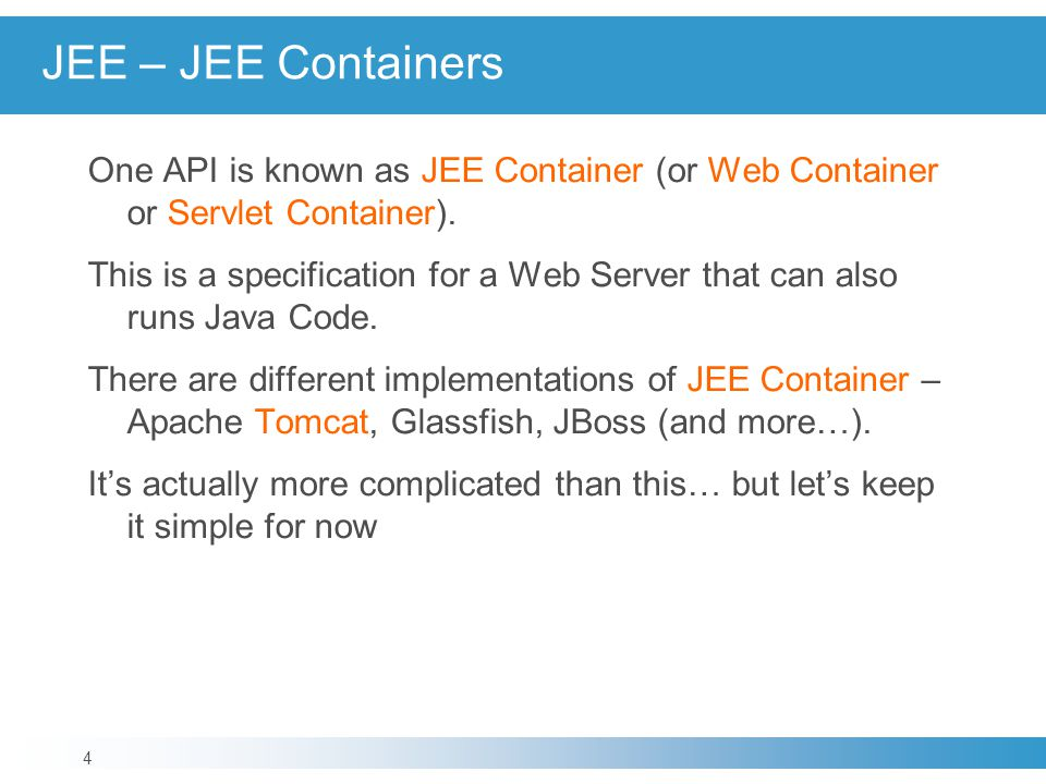 JEE – JEE Containers