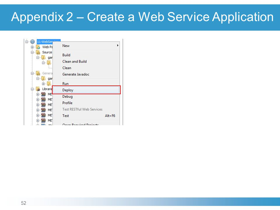 Appendix 2 – Create a Web Service Application