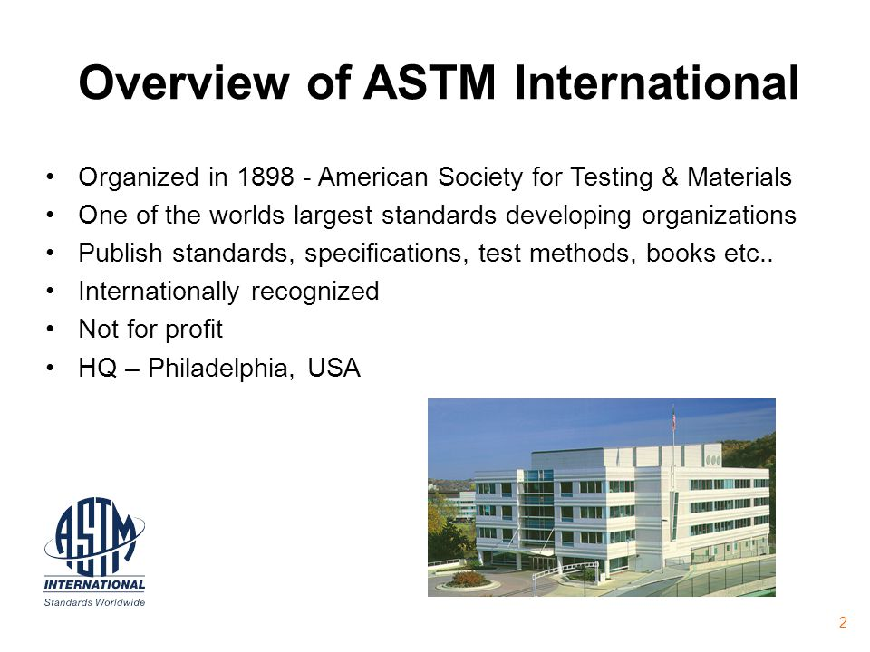 Overview of ASTM International