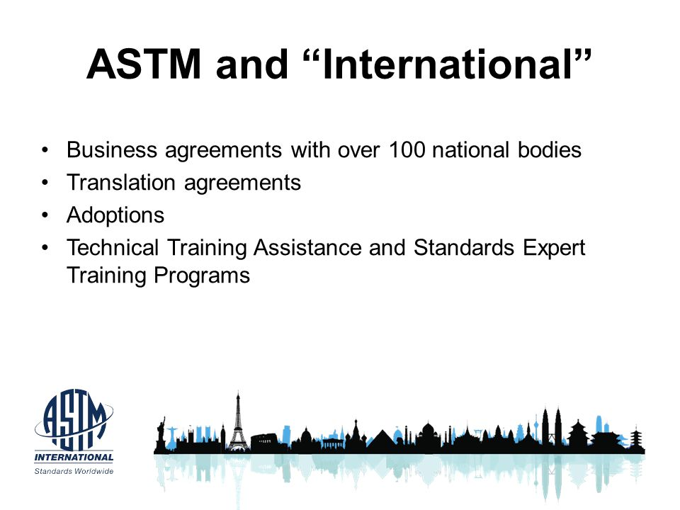 ASTM and International