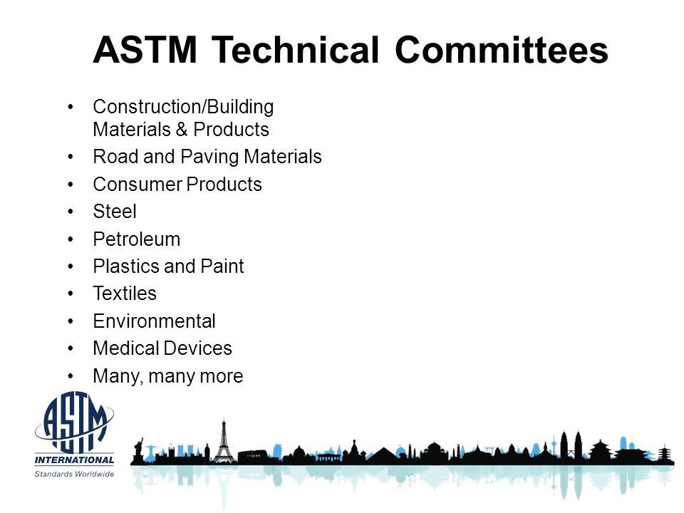 ASTM Technical Committees