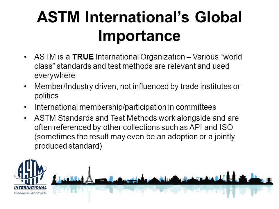 ASTM International's Global Importance